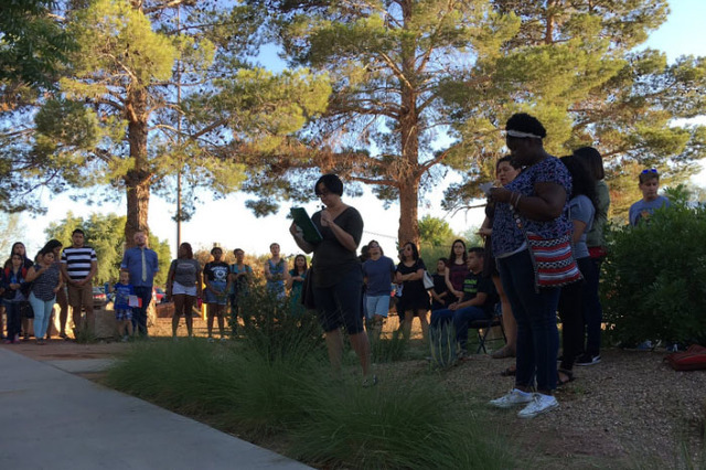 United by grief, anxiety and anger, a group of UNLV students put together Monday's event to help the community mourn.  (Ana Ley)