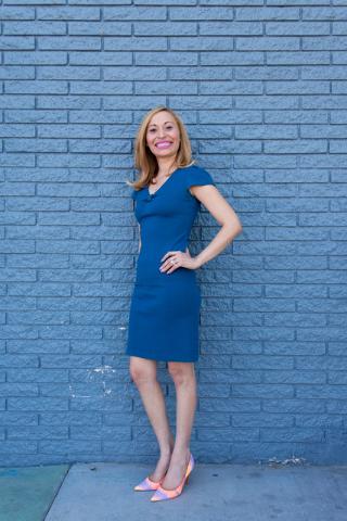 Beli Andaluz, owner and lead stylist of Beli Andaluz Salon, poses for a portrait outside of PublicUs in Las Vegas June 23, 2016. Elizabeth Brumley/Las Vegas Review-Journal Follow @elipagephoto