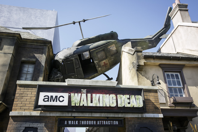 "The exterior of Universal Studios Hollywood's newly opened ""The Walking Dead"" attraction. (Courtesy Universal Studios Hollywood/David Sprague)"
