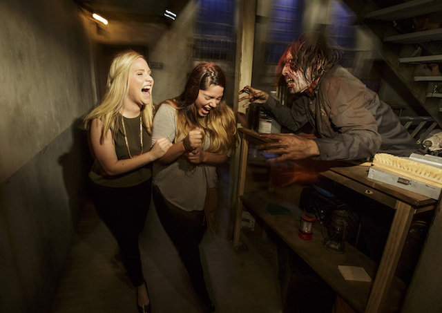"Guests experience Universal Studios newly opened ""The Walking Dead"" attraction. (Courtesy Universal Studios Hollywood/David Sprague)"