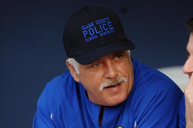 Las Vegas 51s manager Wally Backman is seen in the dugout prior to the start of their Triple-A minor league baseball game against the Reno Aces at Cashman Field in Las Vegas Friday May 01, 2015. B ...
