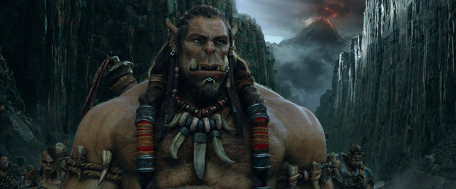 "Orc chieftain Durotan (TOBY KEBBELL) is the beloved leader of the Frostwolf Clan in ""Warcraft."" From Legendary Pictures and Universal Pictures comes ""Warcraft."" (Legendary Pictures, Universal Pict ..."