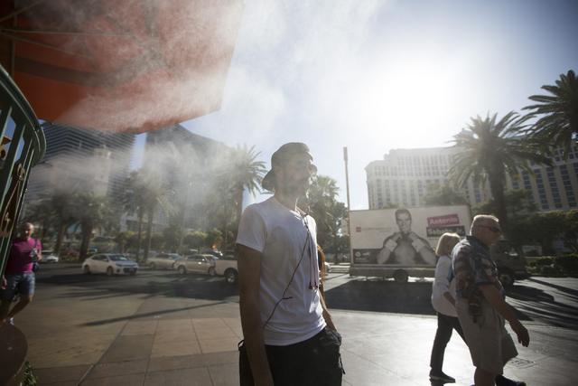 A man walks near the Paris casino-hotel on Tuesday, May 31, 2016, in Las Vegas. Erik Verduzco/Las Vegas Review-Journal Follow @Erik_Verduzco