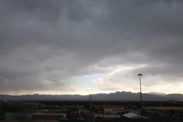 A timelapse of rain of the Las Vegas Valley is shown on June 30, 2016. (Michael Quine/Las Vegas Review-Journal)