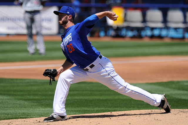 Las Vegas 51s pitcher Darin Gorski is shown May 3, 2015, at Cashman Field. (Josh Holmberg/Las Vegas Review Journal)
