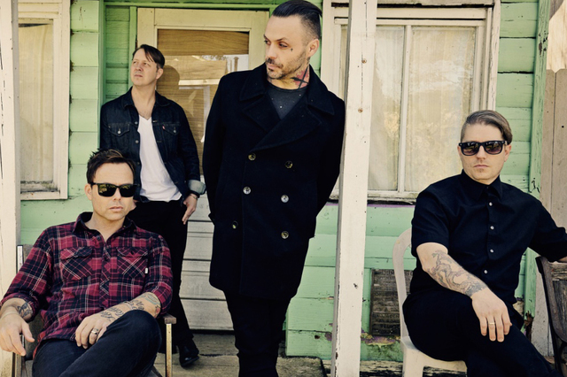 Justin Furstenfeld, center, and Blue October. (Courtesy)