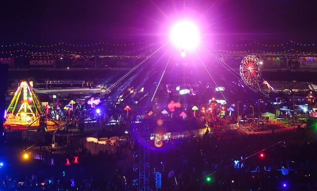 The Neon Garden stage is seen at Electric Daisy Carnival at the Las Vegas Motor Speedway in Las Vegas on Sunday, June 21, 2015. (Chase Stevens/Las Vegas Review-Journal) Follow Chase Stevens on Twi ...
