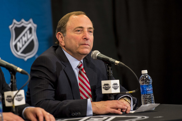 NHL commissioner Gary Bettman is shown at the MGM Grand Garden on June 24, 2015. (Joshua Dahl/Las Vegas Review-Journal)