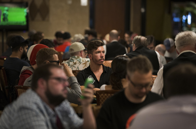 Darryll Fish competes in the World Series of Poker's $1,500 No-Limit Hold'em at the Rio Convention Center on Wednesday, June 29, 2016, in Las Vegas. Benjamin Hager/Las Vegas Review-Journal