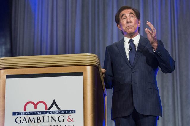 Casino resort developer Steve Wynn speaks during the International Conference on Risk Taking convention at the Mirage on Tuesday, June 7, 2016.  (Jeff Scheid/Las Vegas Review-Journal Follow @jlscheid)
