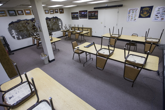 A training room inside the Prescott Fire Department Station 7, home to the 19 members of the Granite Mountain Hotshot crew killed while battling a fire in Yarnell, Ariz., three years ago, is seen  ...
