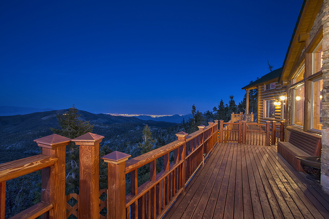 This 4,250-square-foot Mountain Charleston cabin is perched 9,000 feet above sea level in the middle of the Toiyable National Forest. It's listed for $2.2 million. (Courtesy)