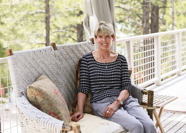 Dr. Jean McCusker spends the summer in her Lee Canyon cabin. (Elke Cote/Real Estate Millions)