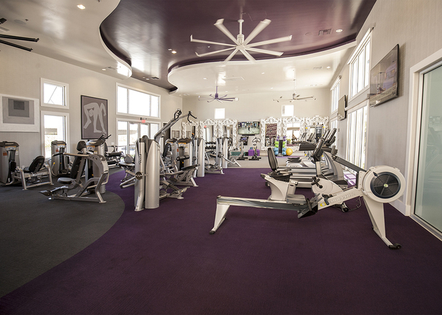 The gym is another amenity. (Elke Cote/RJRealEstate.Vegas)