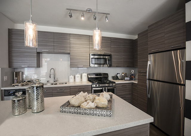 Kitchen in one of the units. (Elke Cote/RJRealEstate.Vegas)