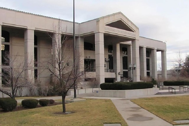 The Nevada Supreme Court building (Greg Haas/Las Vegas Review-Journal)