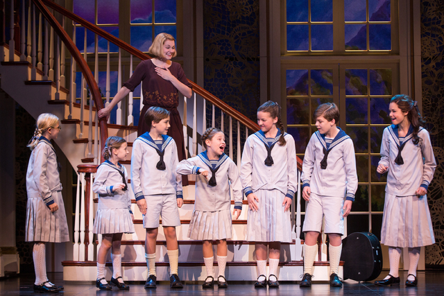 "The Von Trapp children meet their new governess, Maria (Kerstin Anderson) in the new production of ""The Sound of Music,"" which returns to the original Broadway script. MATTHEW MURPHY/COURTESY THE  ..."