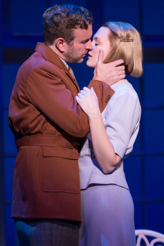 "Widowed Capt. Georg Von Trapp finds new love with new governess Maria Rainer (Kerstin Anderson) in ""The Sound of Music."" A new version of the Rodgers and Hammerstein musical opens Tuesday at The S ..."