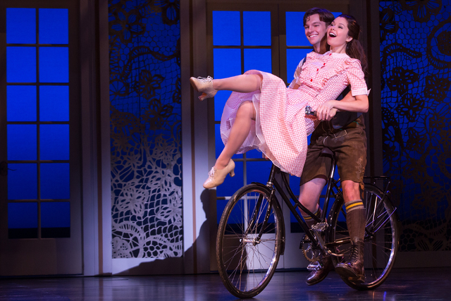 "Liesl Von Trapp (Paige Silvester) explores the complications of being ""16 Going on 17"" with Rolf Gruber (Dan Tracy) in the new ""Sound of Music"" tour. MATTHEW MURPHY/COURTESY THE SMITH CENTER FOR T ..."