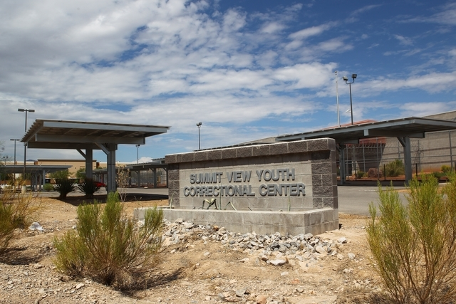 Summit View Youth Correctional Center in Las Vegas, Wednesday, Aug. 26, 2015. (Chase Stevens/Las Vegas Review-Journal Follow @csstevensphoto)