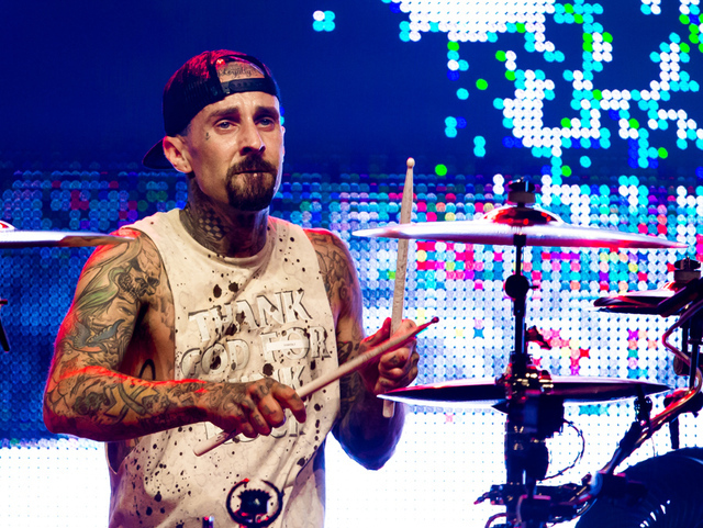 Travis Barker of Blink-182 headlines The Joint on July 23, 2016, at the Hard Rock Hotel. (Erik Kabik)