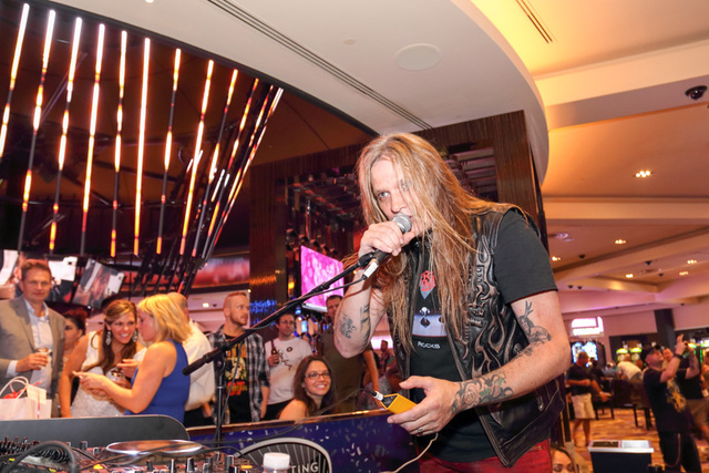 DJ Sebastian Bach at Center Bar on July 23, 2016, in the Hard Rock Hotel. (Jeff Ragazzo/Kabik Photo Group)