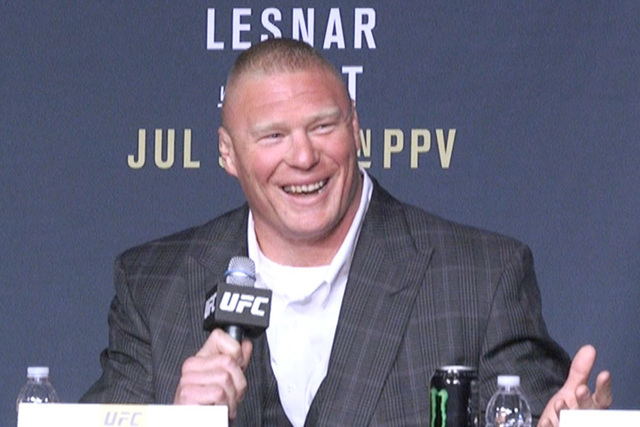 Brock Lesnar (Las Vegas Review-Journal)