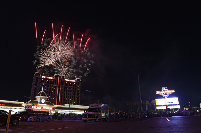 Lighting Basement Washroom Stairs: Palace Station Celebrates 40th Birthday With Fireworks