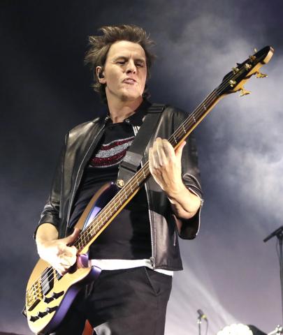 John Taylor of Duran Duran performs at Mandalay Bay hotel-casino on Friday, July 29, 2016.(Bizuayehu Tesfaye/Las Vegas News Bureau)