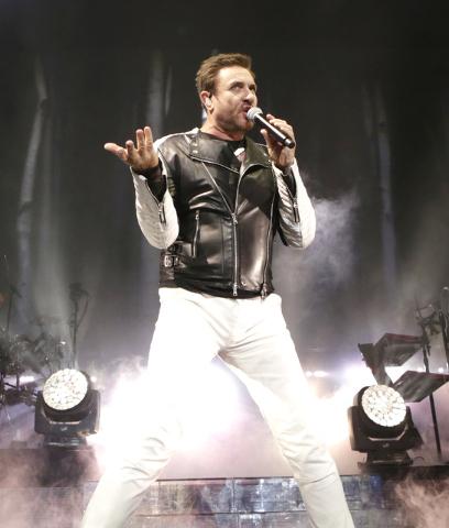 Simon Le Bon of Duran Duran performs at Mandalay Bay hotel-casino on Friday, July 29, 2016. (Bizuayehu Tesfaye/Las Vegas News Bureau)