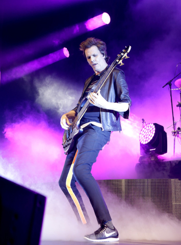 John Taylor of Duran Duran performs at Mandalay Bay hotel-casino on Friday, July 29, 2016. (Bizuayehu Tesfaye/Las Vegas News Bureau)