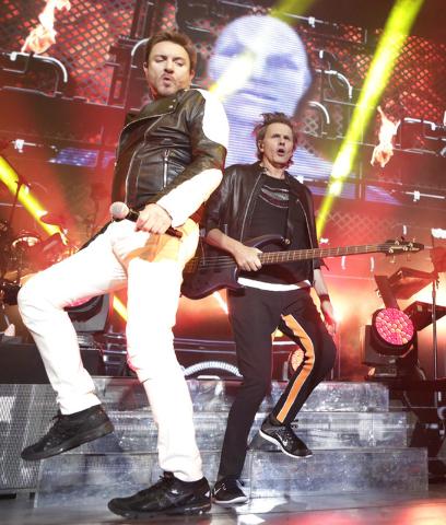 Simon Le Bon, left, John Taylor and Dom Brown of Duran Duran perform at Mandalay Bay hotel-casino on Friday, July 29, 2016. CREDIT: Bizuayehu Tesfaye/Las Vegas News Bureau