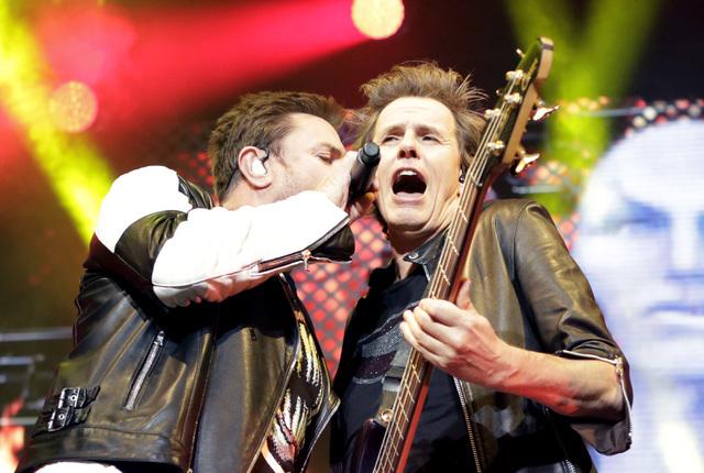 Simon Le Bon, left, and John Taylor of Duran Duran perform at Mandalay Bay hotel-casino on Friday, July 29, 2016. (Bizuayehu Tesfaye/Las Vegas News Bureau)