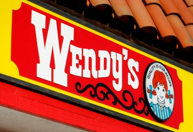 A Wendy's sign and logo are shown at one of the company's restaurant in Encinitas, California May 10, 2016 .  (Mike Blake/Reuters)