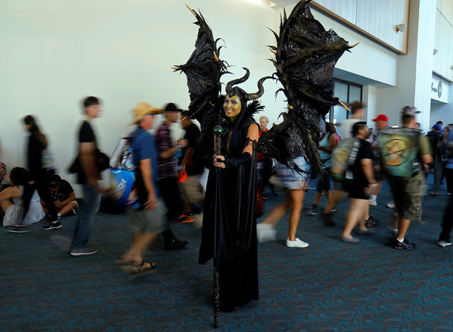 Linda Nguyen comes dressed as the Disney character Maleficent poses as she attends the pop culture event Comic-Con International in San Diego, California, United States July 22, 2016. (Mike Blake/ ...