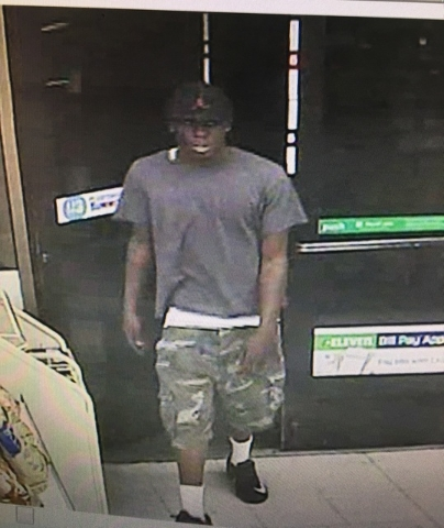 Henderson police are looking for this suspect in the robbery of a 7-Eleven convenience store Monday night, July 25, 2016. (Henderson Police Department)