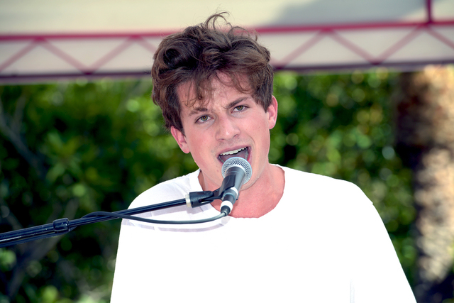 Charlie Puth headlines Go Pool on July 16, 2016, at Flamingo Las Vegas. (Glenn Pinkerton/Las Vegas News Bureau)