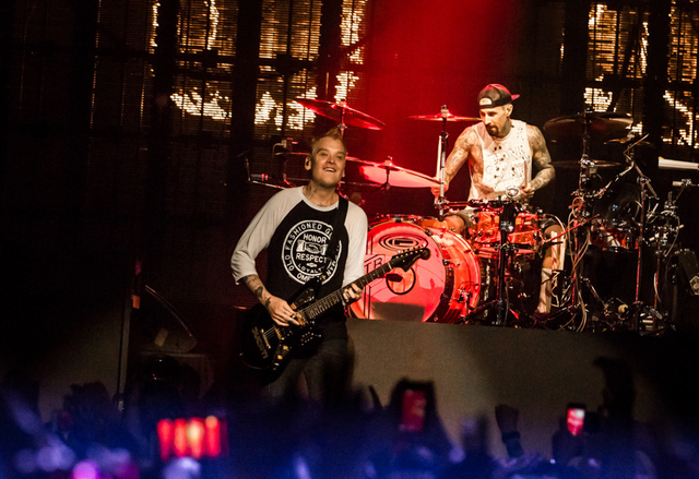 Matt Skiba and Travis Barker of Blink-182 headline The Joint on July 23, 2016, at the Hard Rock Hotel. (Erik Kabik)