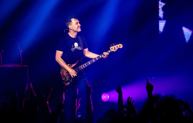 Mark Hoppus of Blink-182 headlines The Joint on July 23, 2016, at the Hard Rock Hotel. (Erik Kabik)