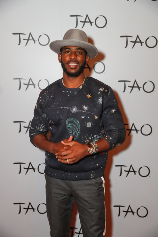 Chris Paul hosts his official Topspin Celebrity Ping Pong Tournament After-Party at Tao on July 21, 2016, in The Venetian. (Tony Tran)
