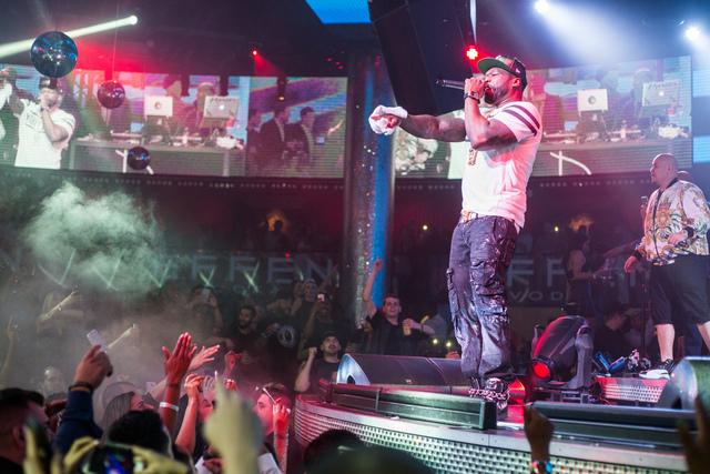 50 Cent and Fat Joe at Drai's Nightclub on July 23, 2016, atop The Cromwell. (Jesse Sutherland/Tony Tran Photography)