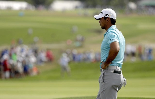 Jason Day, of Australia, waits to play on the 12th hole during third round of the U.S. Open golf championship at Oakmont Country Club on Saturday, June 18, 2016, in Oakmont, Pa. (AP Photo/Charlie  ...