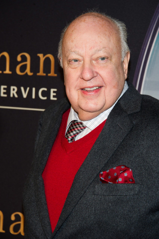 """Roger Ailes attends a special screening of """"Kingsman: The Secret Service"""" in New York, Feb. 9, 2015. Ailes resigned Thursday, July 21 2016, as CEO of the Fox New Channel. (Charles Sykes/Invision/AP)"""