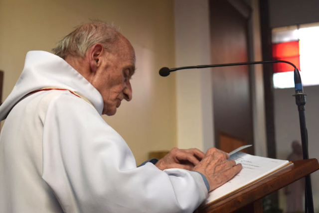 This is an undated image of French priest Rev. Jacques Hamel made available by the Catholic Diocese in Rouen, France, on Tuesday, July 26, 2016. Hamel, 85, was killed when two attackers slit his t ...