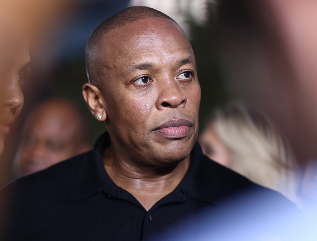 "Dr. Dre arrives at the Los Angeles premiere of ""Straight Outta Compton,"" Aug. 10, 2015. (John Salangsang/Invision/AP)"