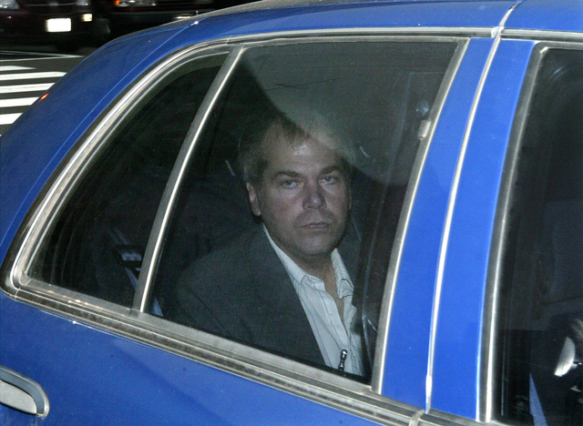 John Hinckley Jr. arrives at U.S. District Court in Washington, Nov. 18, 2003. A judge says Hinckley, who attempted to assassinate President Ronald Reagan will be allowed to leave a Washington men ...