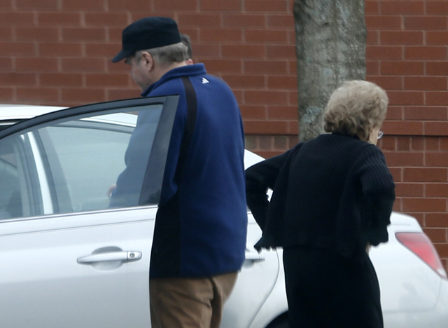 John Hinckley Jr. gets into his mother's car in front of a recreation center in Williamsburg, Va., March 19, 2015. A judge says Hinckley, who attempted to assassinate President Ronald Reagan will  ...