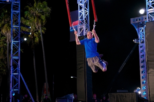 "Las Vegan Dustin Rocho was a finalist on """"American Ninja Warrior."""" (Brandon Hickman/NBC)"