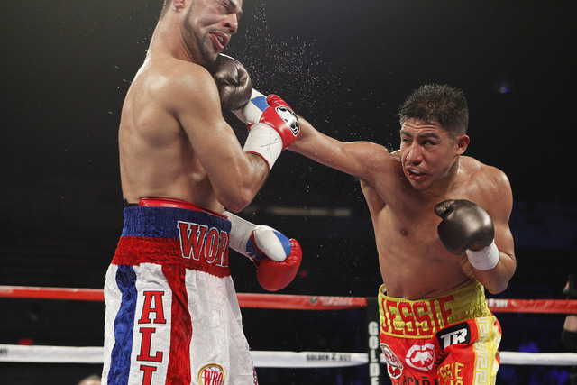 Las Vegas Jessie Vargas, right, connects with a right to the face of Sadam Ali during their World Boxing Organization welterweight championship fight March 5 in Washington, D.C. Vargas won by nint ...