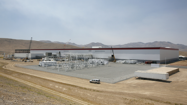 An overall view of the new Tesla Gigafactory is seen during a media tour Tuesday, July 26, 2016, in Sparks, Nev. Itճ Tesla Motorsՠbiggest bet yet: A massive, $5 billion factory in the  ...